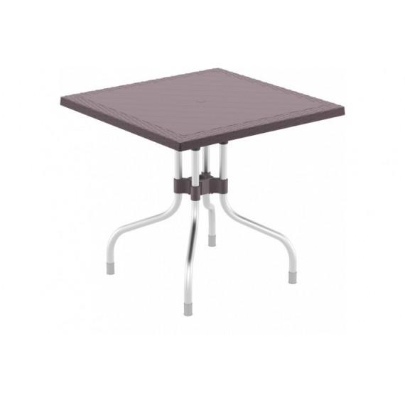 SIESTA EXCLUSIVE, Stůl FORZA 80 hnědý