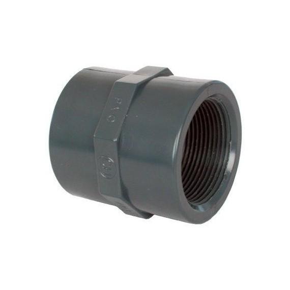 "PVC tvarovka - Mufna 2 1/2"" (vnitřní rozměr)"