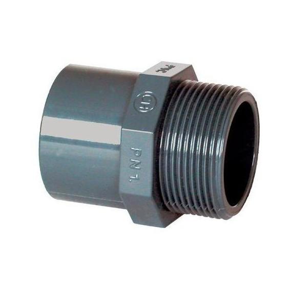 """PVC tvarovka - Přechodka 63--50 x 1 1/2"""" (vnější rozměr)"""