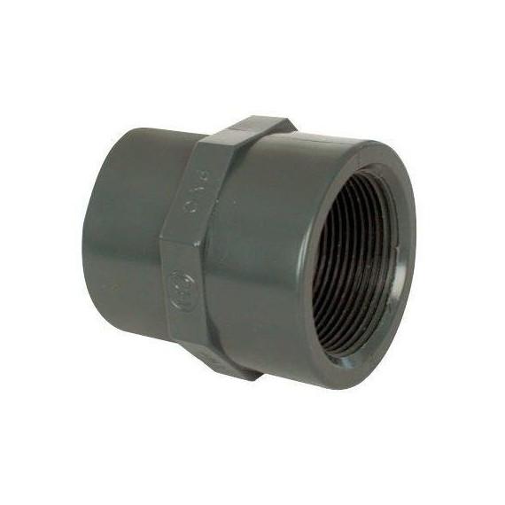 """PVC tvarovka - Mufna přechod red 50--40 x 1 1/2"""" (vnitřní rozměr)"""