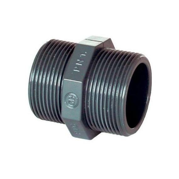 """PVC tvarovka - Dvojnipl 1/2"""" (vnější rozměr)"""