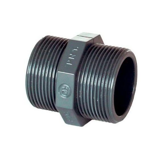 """PVC tvarovka - Dvojnipl 1"""" (vnější rozměr)"""