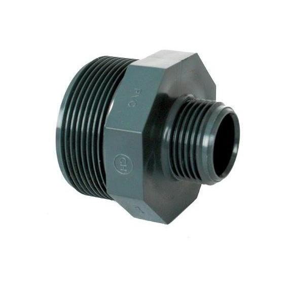 """PVC tvarovka - Dvojnipl redukovaný 3/4"""" x 1/2"""" (vnější rozměr)"""