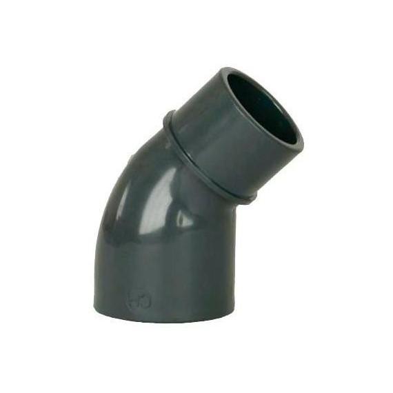 PVC tvarovka - Úhel 45° 50 (vnitřní rozměr) x 50 (vnější rozměr)
