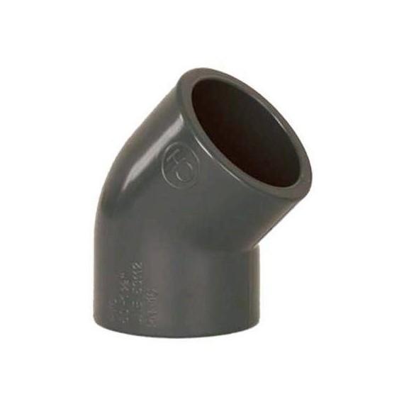 PVC tvarovka - Úhel 45° 125 mm