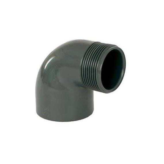 """PVC tvarovka - Úhel 90° 50 x 1 1/2"""" (vnější rozměr)"""