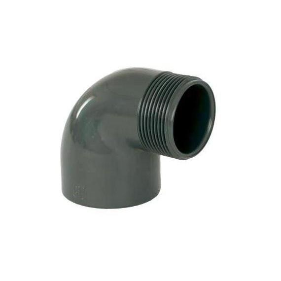 """PVC tvarovka - Úhel 90° 63 x 2"""" (vnější rozměr)"""