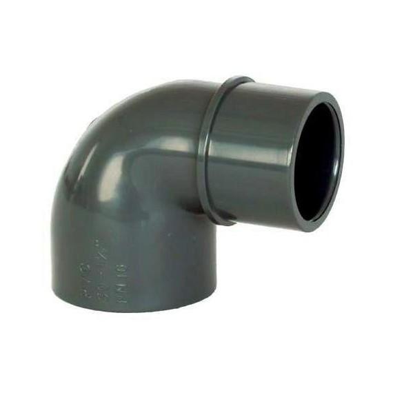 PVC tvarovka - Úhel 90° 50 (vnitřní rozměr) x 50 (vnější rozměr)