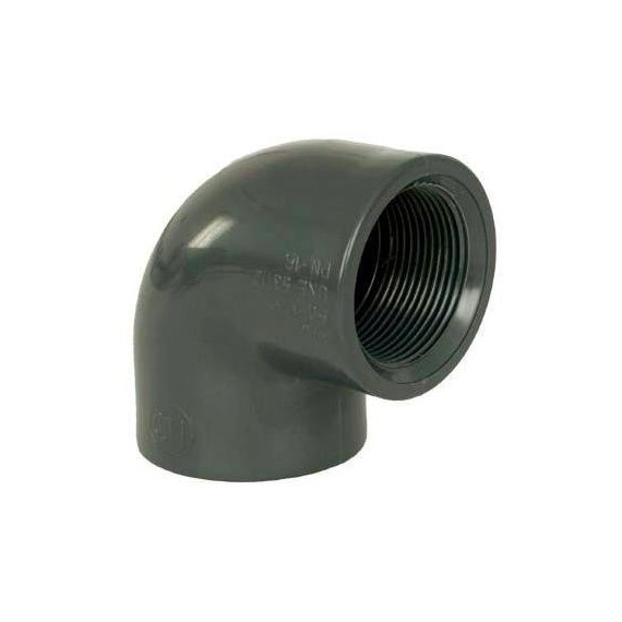 """PVC tvarovka - Úhel 90° 40 x 1 1/4"""" (vnitřní rozměr)"""