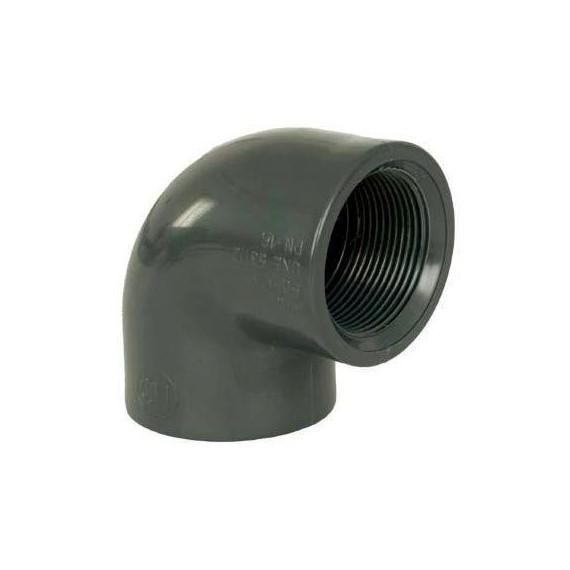"""PVC tvarovka - Úhel 90° 63 x 2"""" (vnitřní rozměr)"""