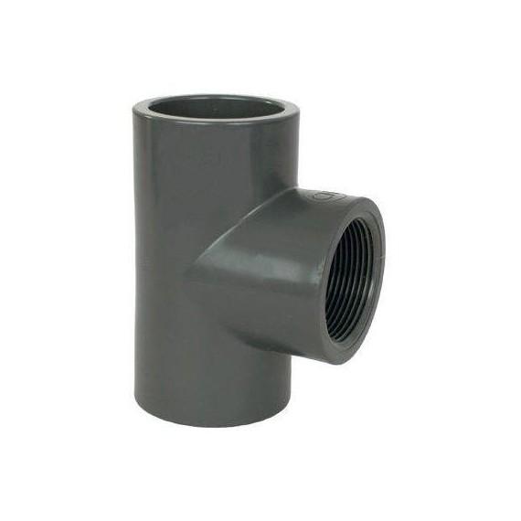"""PVC tvarovka - T-kus 90° 20 x 1/2"""" (vnitřní rozměr)"""