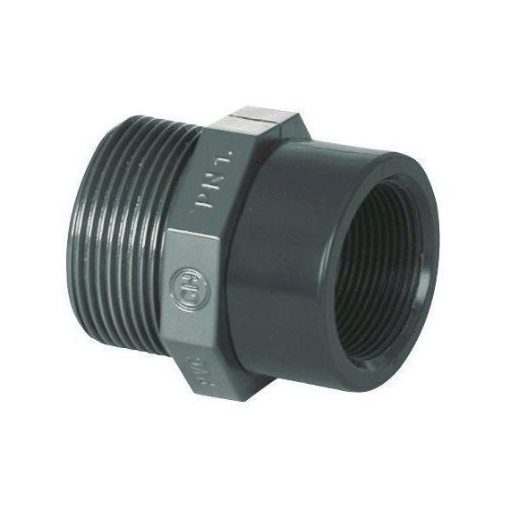 """PVC tvarovka - Redukce 1 1/2"""" (vnější rozměr) x 1/2"""" (vnitřní rozměr)"""