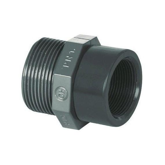"""PVC tvarovka - Redukce 1 1/2"""" (vnější rozměr) x 3/4"""" (vnitřní rozměr)"""
