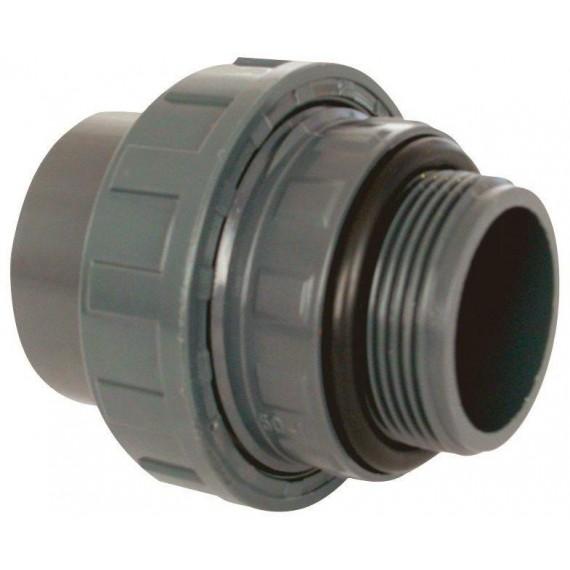 """PVC tvarovka - Šroubení 50 x 1 1/2"""" (vnější rozměr) , s o-kroužkem"""