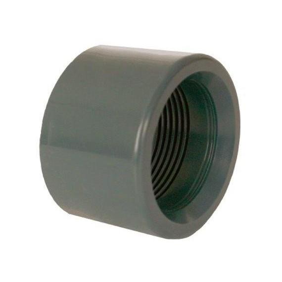 """PVC tvarovka - Redukce krátká vkládací se závitem 50 x 1 1/4"""" (vnitřní rozměr)"""