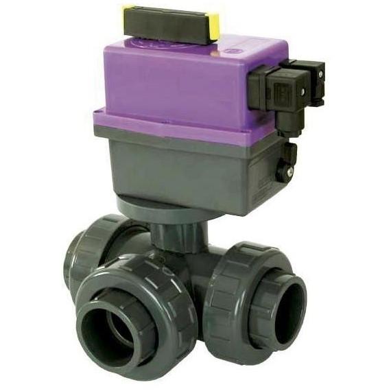 PVC Kulový el třícestný ventil 63 mm CH-L (nové FIP-L)