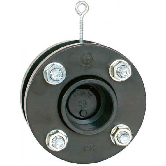 Zpětná klapka s přírubami a s manžetami 250 mm