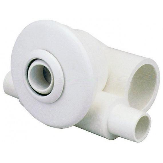 Hydromasážní tryska - Minitryska 24 ABS (bílá), d otvoru 23 mm