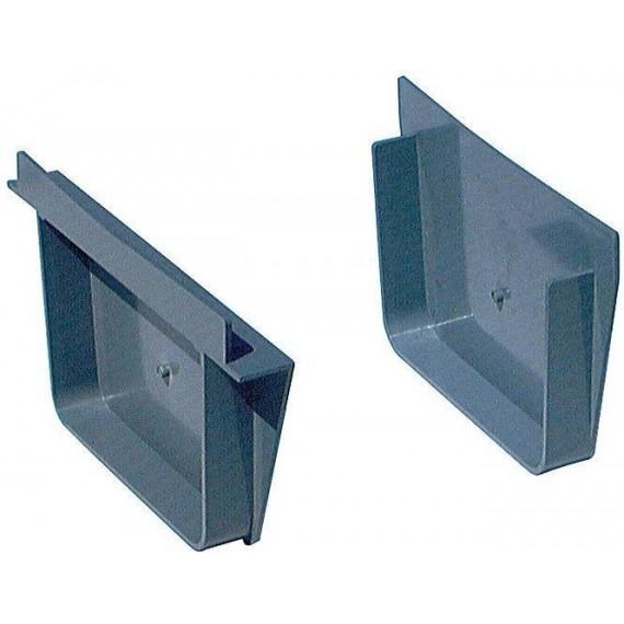 Přelivový žlábek - Koncovka vnitřní (in)/venkovní (ex) PVC