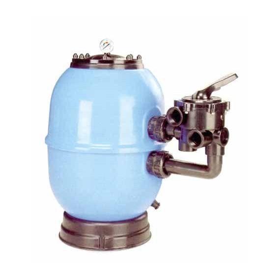 Filtrační nádoba Lisboa 900 mm, průtok 30 m3/h, boční ventil