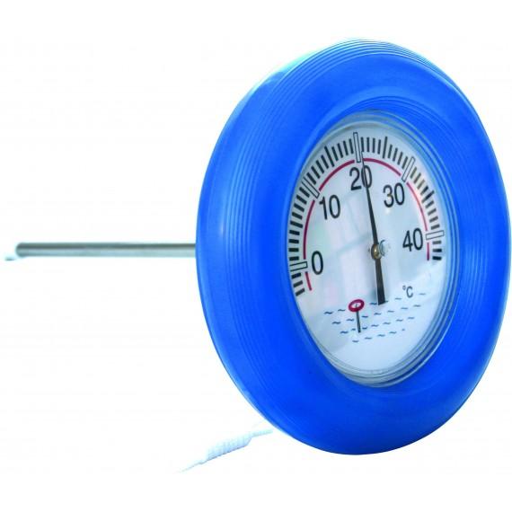 Teploměr plovoucí kruhový průměr 185 mm s gumovou obručí
