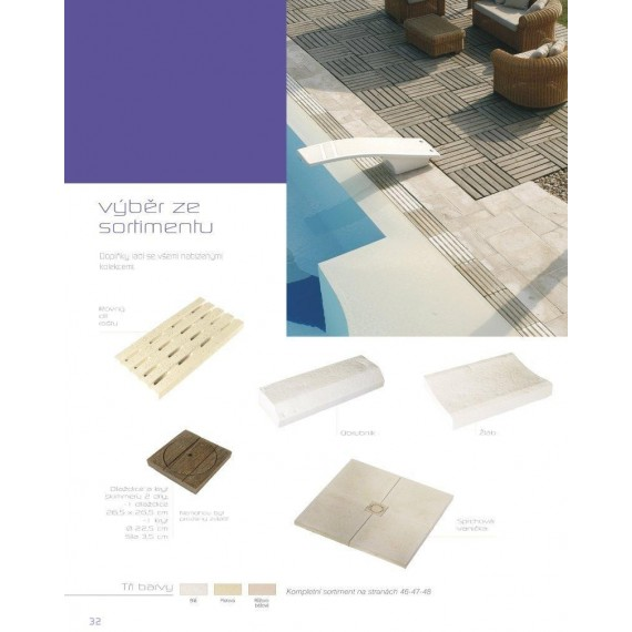 Dekorace - mřížka roštu 500 x 250 x tl. 40 mm – Sahara povrch