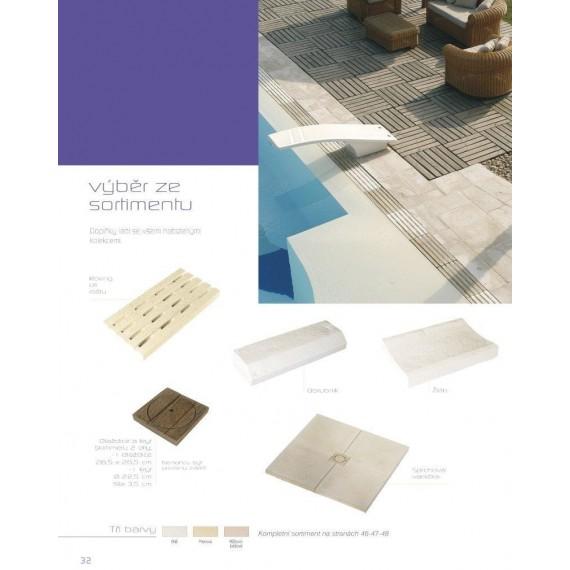Dekorace - mřížka roštu 500 x 250 x tl 40 mm Hladký povrch