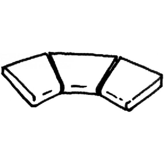 Dlažba Ardoise rohová dlaždice R 610 (vnitřní rozměr) , 3 kus