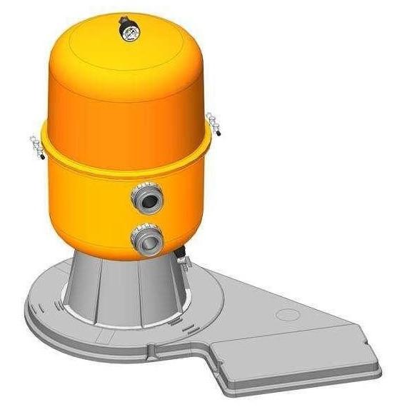 Filtrační zařízení - Dělený Kit 600, 16 m3/h, 230 V, 6-ti cest. boč. ventil, čerp. Preva 100