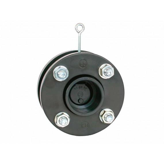Zpětná klapka s pružinou a přírubou 63 mm