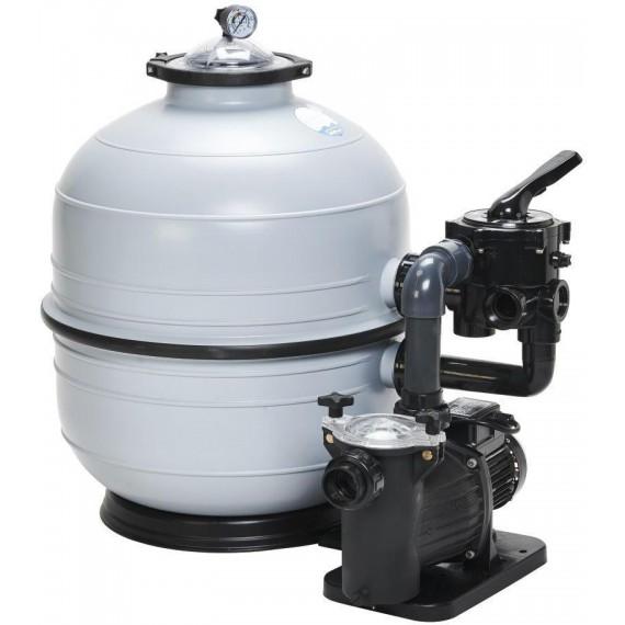 Filtrační zařízení - KIT MIDI 500, 9 m3/h, 230 V, 6-ti cest. boč. ventil, čerp. Preva