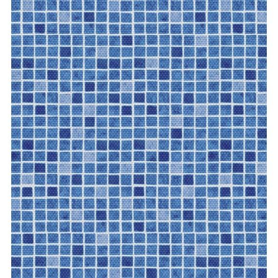 Fólie pro vyvařování bazénů - AVfol Decor Protiskluz - Mozaika Modrá; 1,65m šíře, 1,5mm, metráž