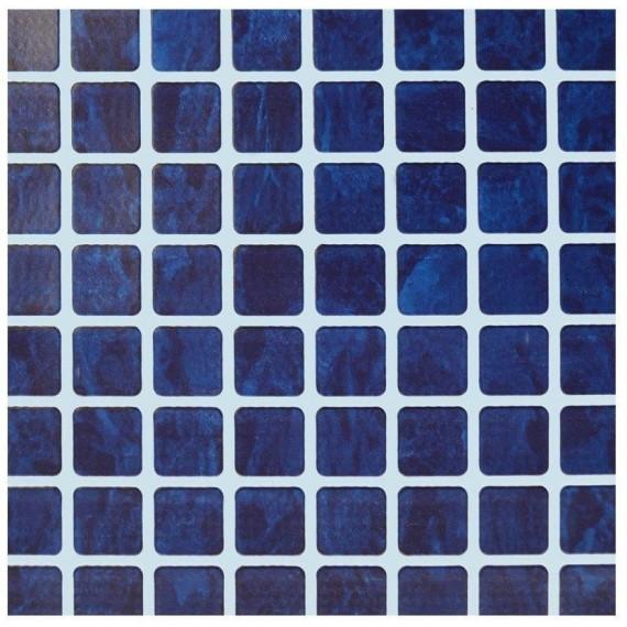 Fólie pro vyvařování bazénů - AVfol Relief - 3D Mozaika Dark Blue; 1,65m šíře, 1,6mm, 20m role