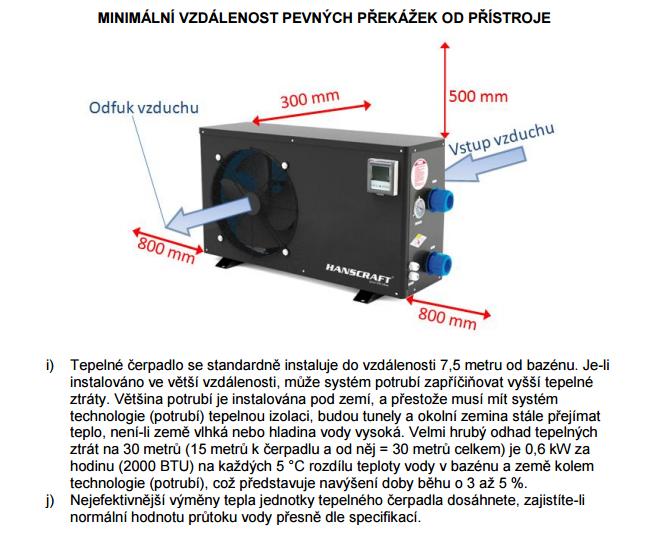 NSTALAČNÍ A UŽIVATELSKÁ PŘÍRUČKA tepelná čerpadla Hanscraft -1
