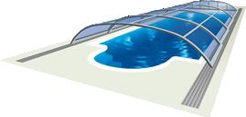 Bazénové zastřešení Elegant NEO