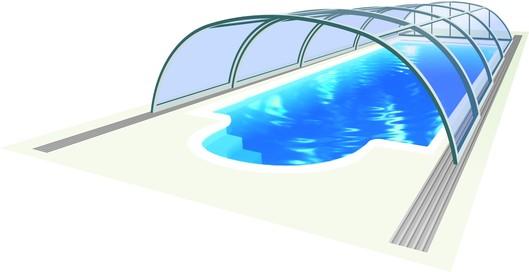 Bazénové zastřešení Tropea Neo