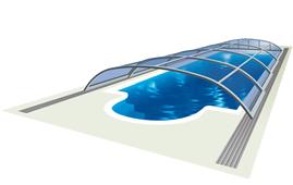 Nízké zastřešení bazénů